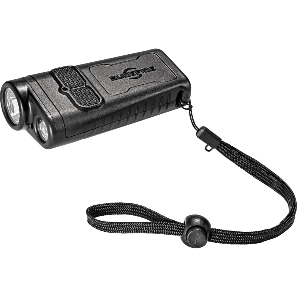 DBR Dual Beam Rechargeable Outdoor LED Flashlight is perfect for utility use with two light emitters and 5 programmable settings and a fuel gauge
