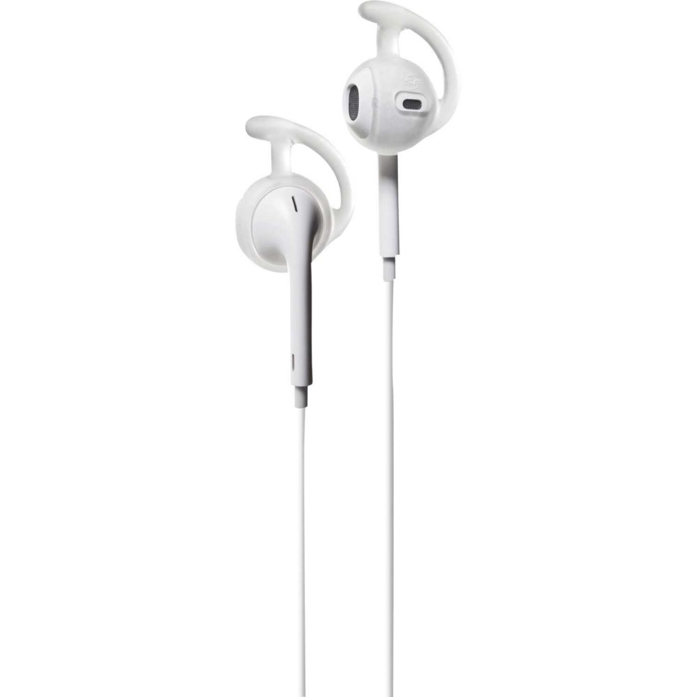 Earlocks fit securely onto Apple EarPods with retention rings to comfortably lock in on your ear