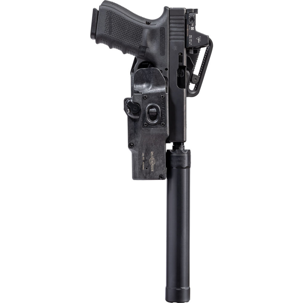 HD1-R Holster compatible with pistols equipped with SF Ryder Suppressor and red dot optics