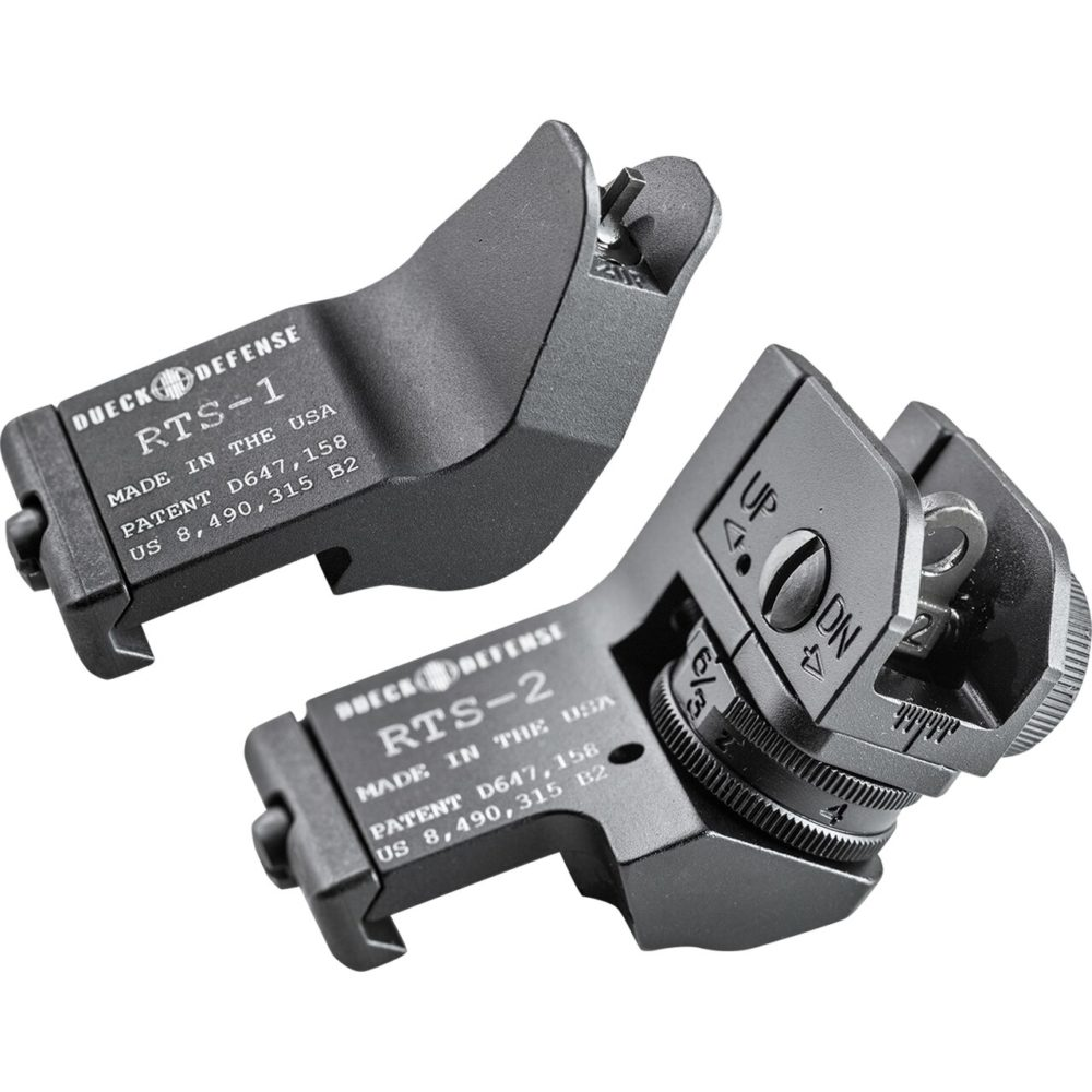 DD-RTS-SET Rapid Transition Sights constructed with lightweight aluminum