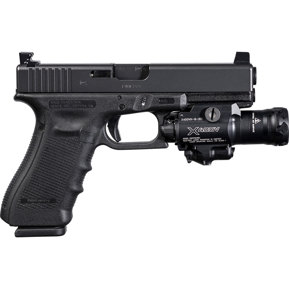 X400VH-B-IRC Handgun Weapon Light and Infrared Laser for pistols is compatible with the MasterFire Rapid Deploy Holster