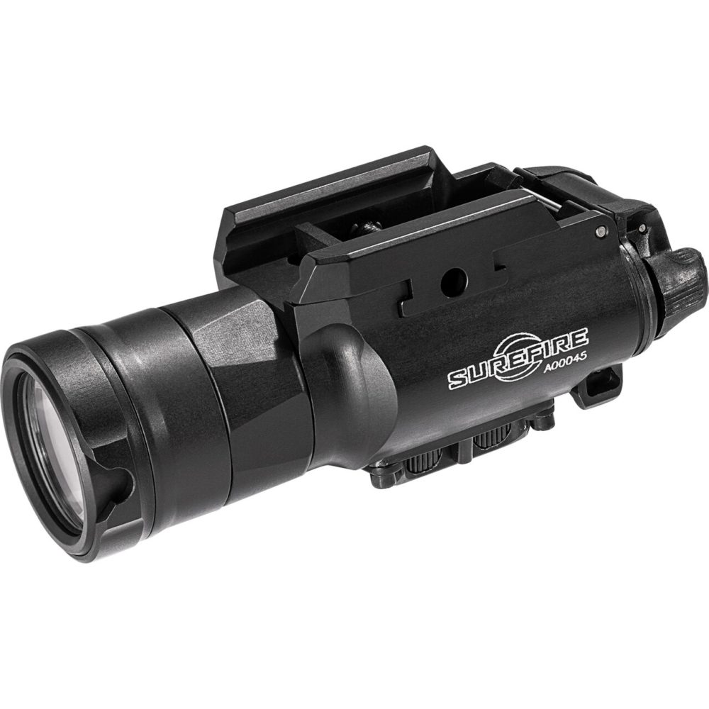 XH30 Ultra High Dual Output Tactical LED Weapon Light provides 1,000 lumens with secure attachment to universal and Picatinny accessory rails