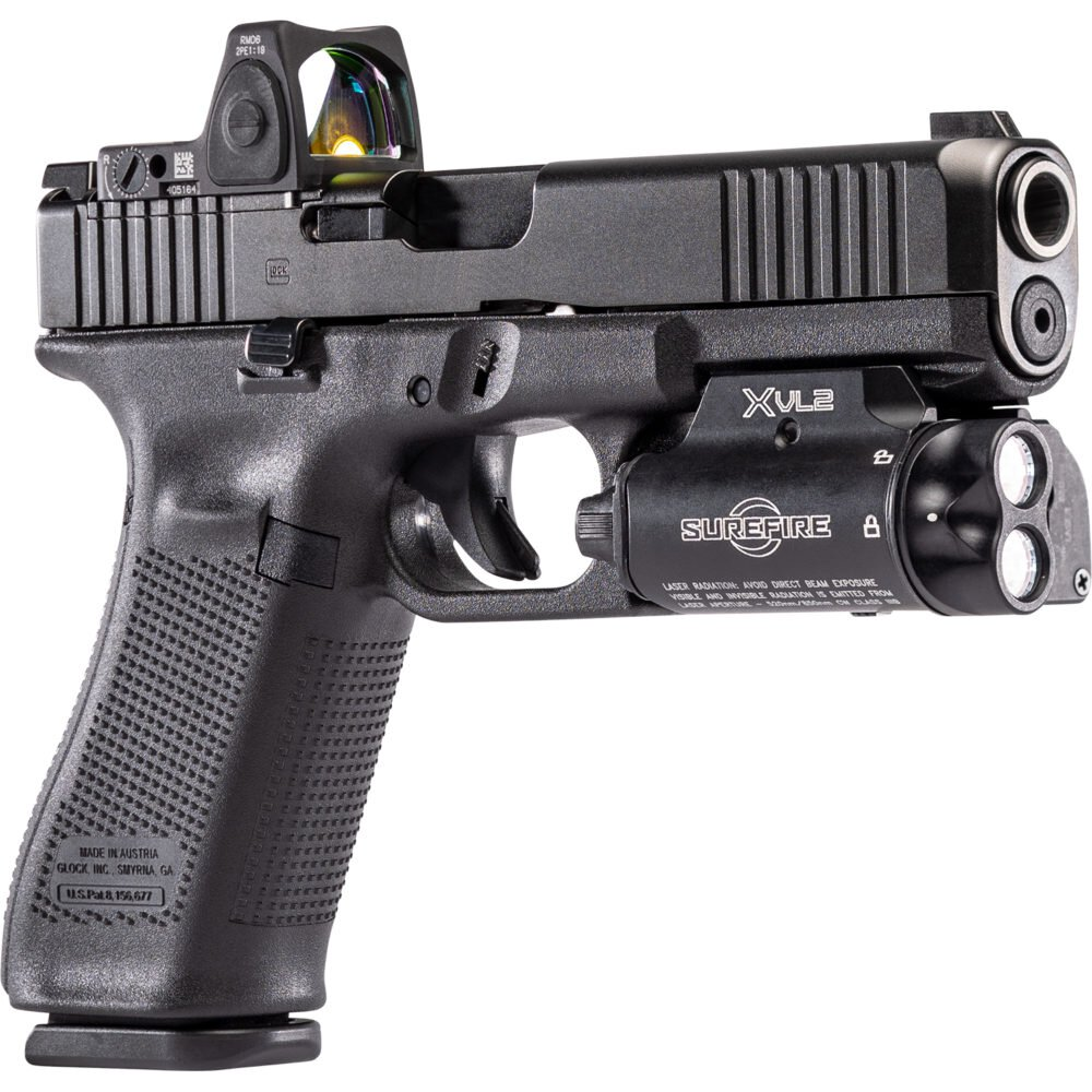 XVL2 Pistol Laser and Light with a weatherproof o-ring seal
