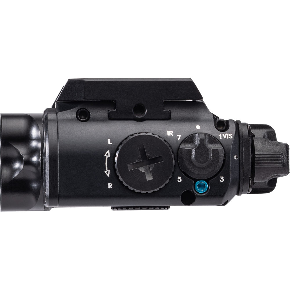 XVL2 Pistol Light and Laser Module System delivers green and infrared laser aiming and white light and infrared illumination
