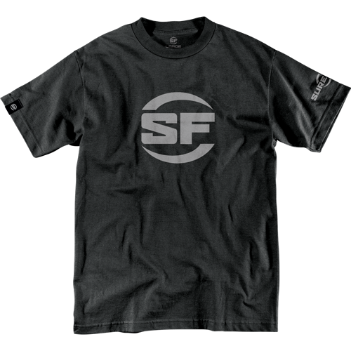 SureFire Button Logo Black T-Shirt