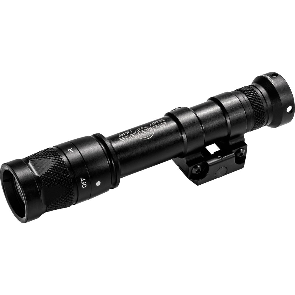 M600V Scout Light Infrared Tactical LED Weapon Light with 350 Lumens Output in a Black Hard Anodized Aluminum Body