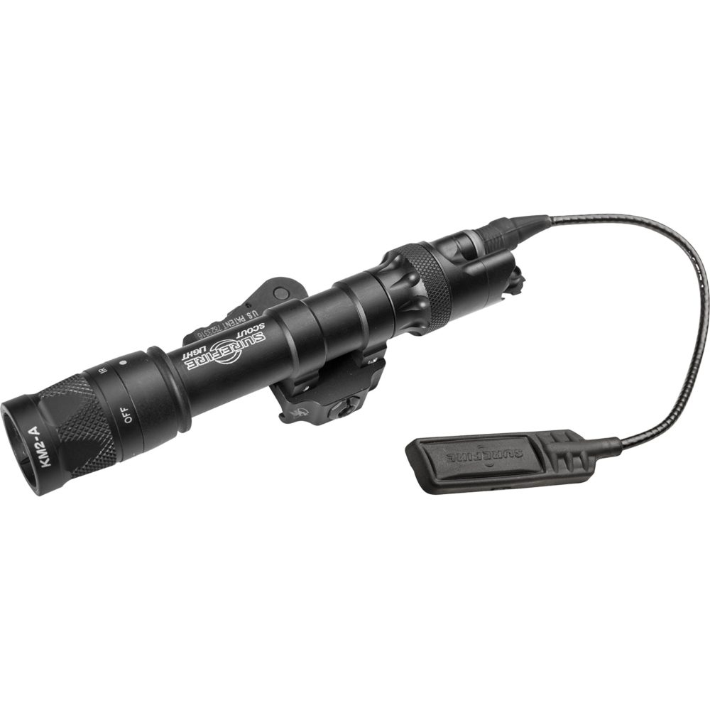 M622V Scout Light Infrared LED Tactical Weapon Light with 350 Lumens Output in Black Color