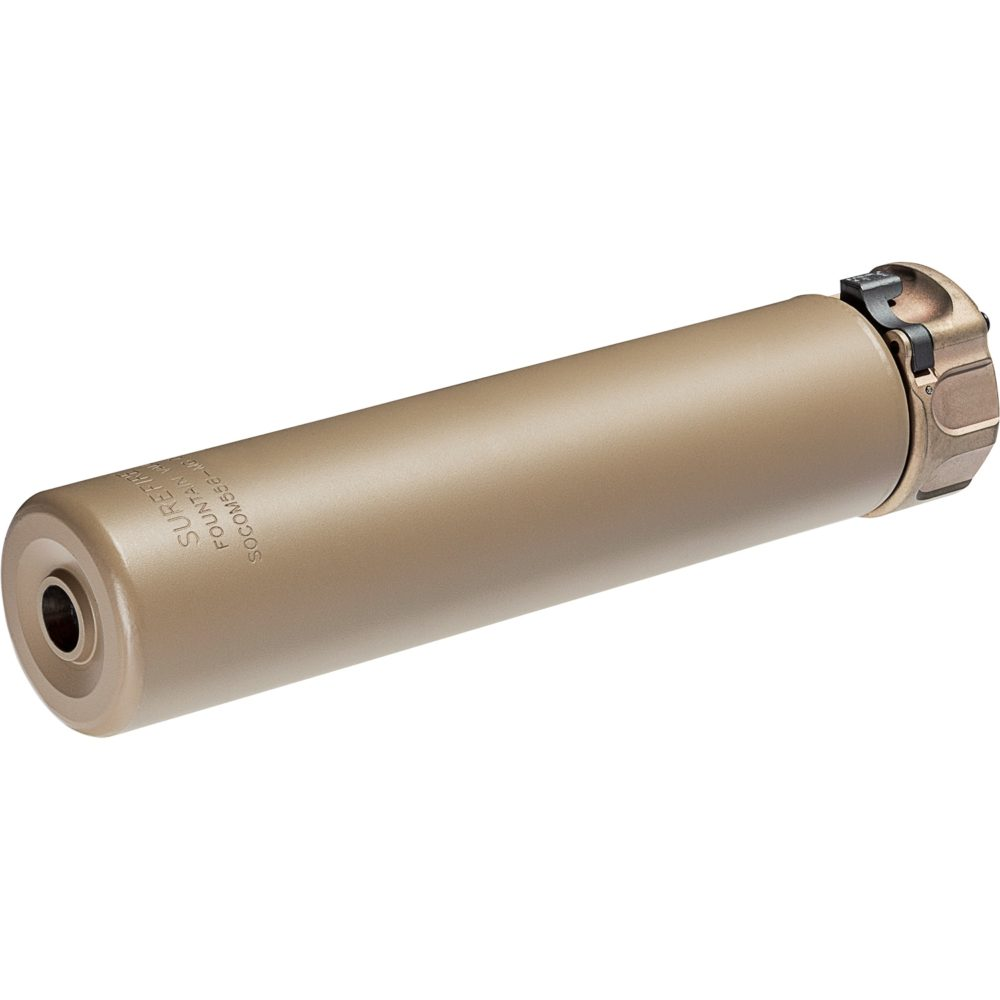 SOCOM556 MG Gun Suppressor Compatible with AR 15 5.56mm Silencer the perfect muzzle flash hider and sound reducer with Dark earth high temperature alloy construction
