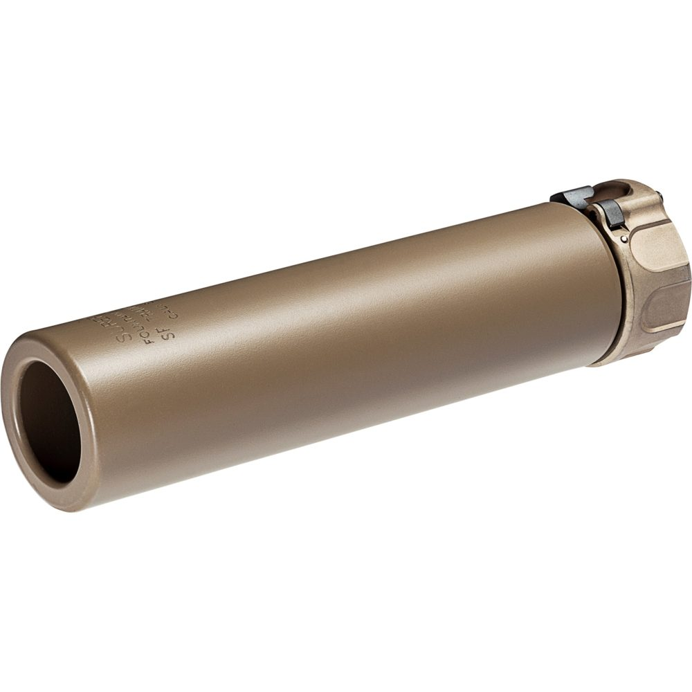 Suppressor Trainer Designed for Use with SOCOM Fast Attach Adapters with in dark earth heat treated stainless steel for 5.56mm and 7.62mm firearms with fast attach mounting system