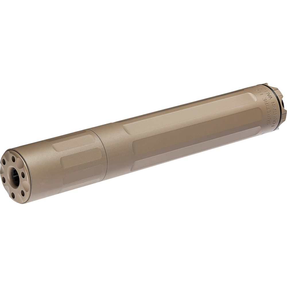 SF Ryder 9M Ti Gun Suppressor 9mm Silencer for pistols and rifles with dark earth titanium construction and direct thread mounting
