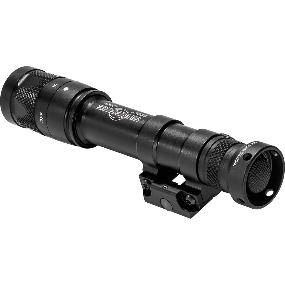 M600V Scout Light Infrared LED Tactical Weapon Light with 350 Lumen Output in a Black Anodized Aluminum Frame