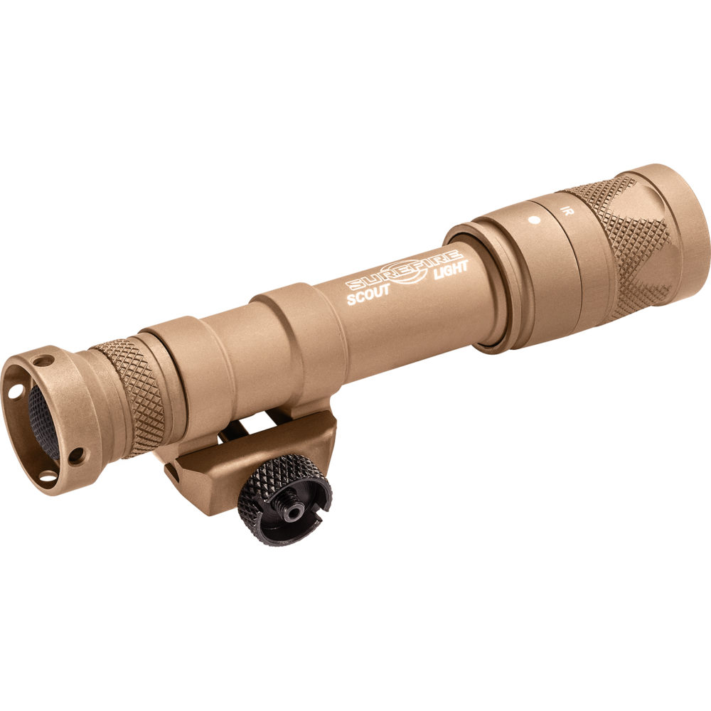 M600V Scout Light Infrared LED Tactical Weapon Light with 350 Lumens Output in a Tan Aluminum Body Construction
