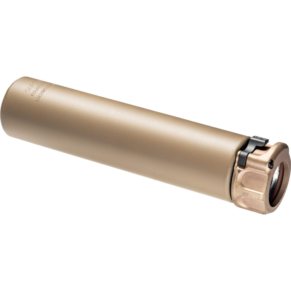SOCOM556 MG Gun Suppressor AR 15 Compatible 5.56mm Silencer with Fast Attach Mounting System in Dark Earth color