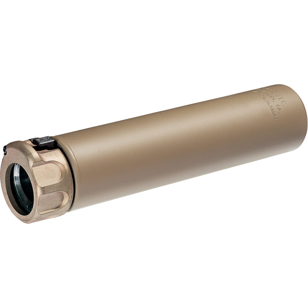 SOCOM556 MG Gun Suppressor AR 15 Compatible 5.56mm Silencer with Fast Attach Mounting System in Dark Earth