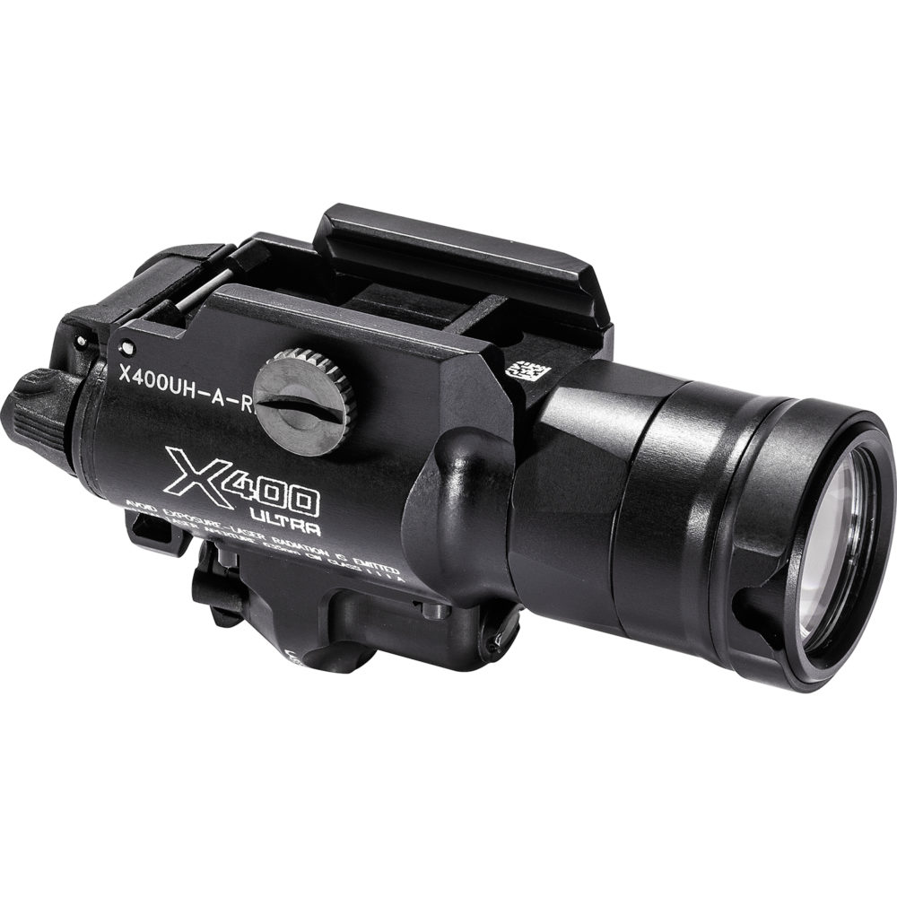 X400UH Ultra LED Pistol Weapon Light provides 1,000 lumen maximum output for handguns