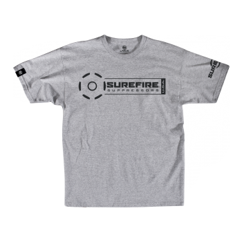 SureFire Suppressor Stamp T-Shirt in Silver