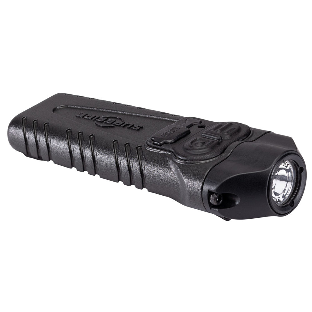 Stiletto Pro Rechargeable Pocket LED Flashlight with 1,000 Lumens Output in a black aerospace aluminum body
