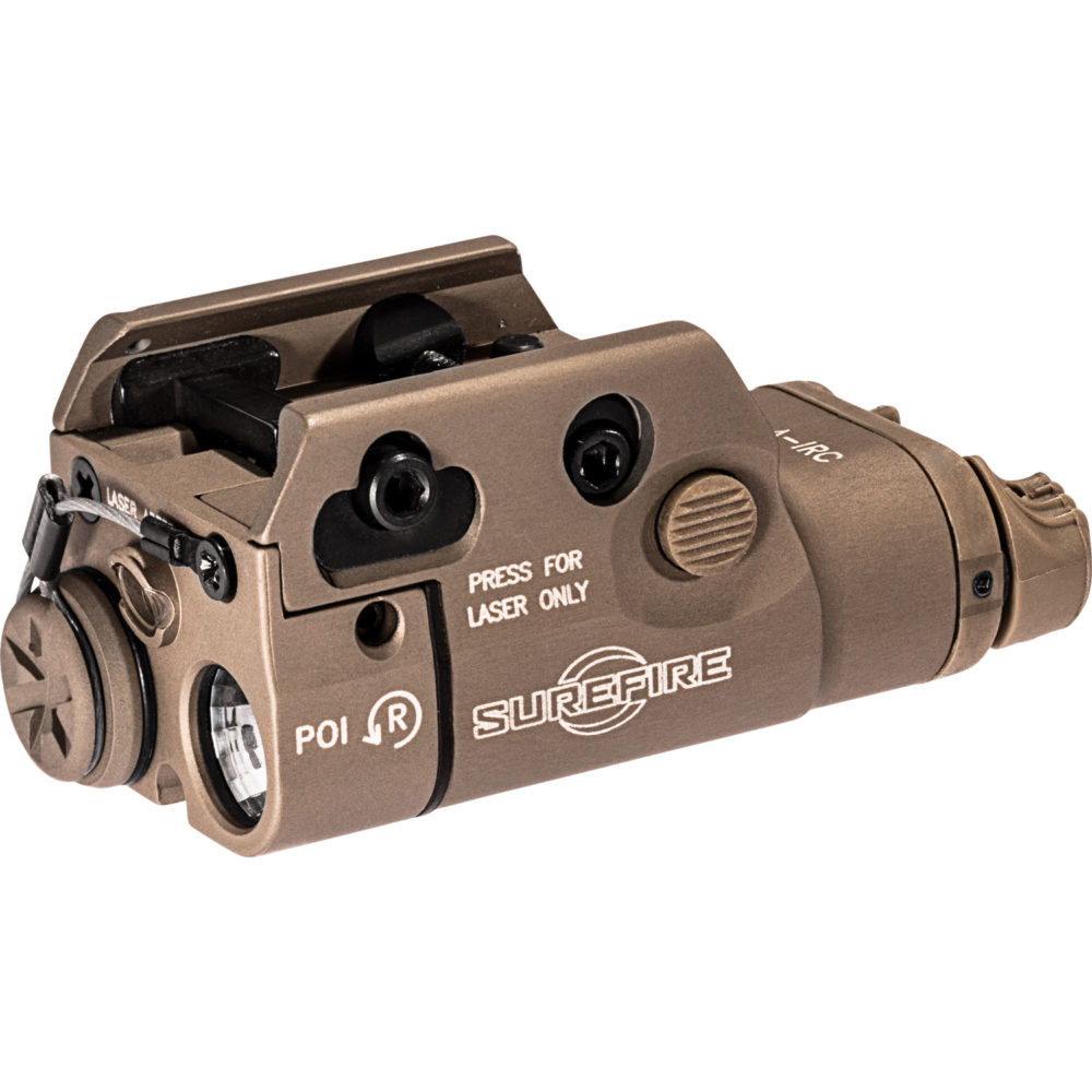 XC2-A-IRC Ultra-Compact Infrared Handgun Light with Laser Features in a Tan Frame