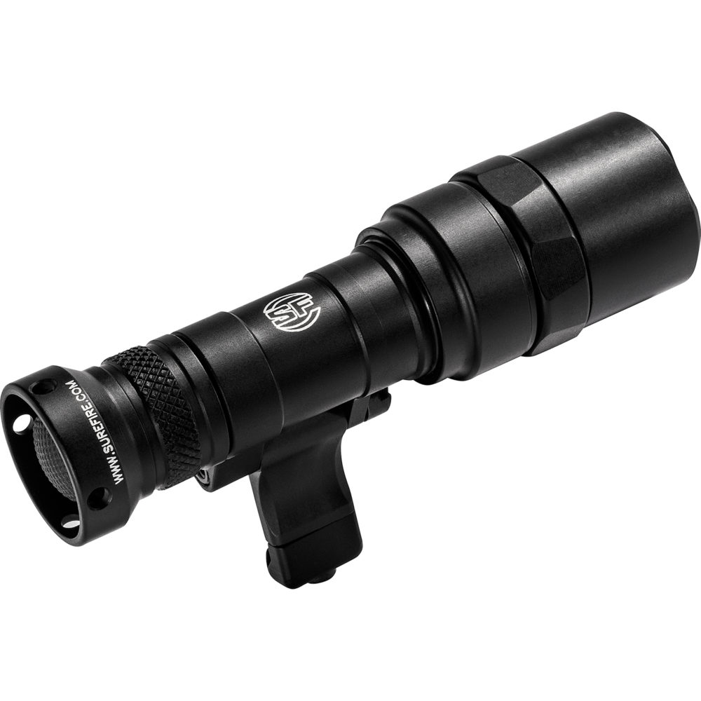M340C-BK-PRO Mini Scout Light Pro Tactical LED Weapon Light with 500 lumens maximum output in black anodized aluminum construction