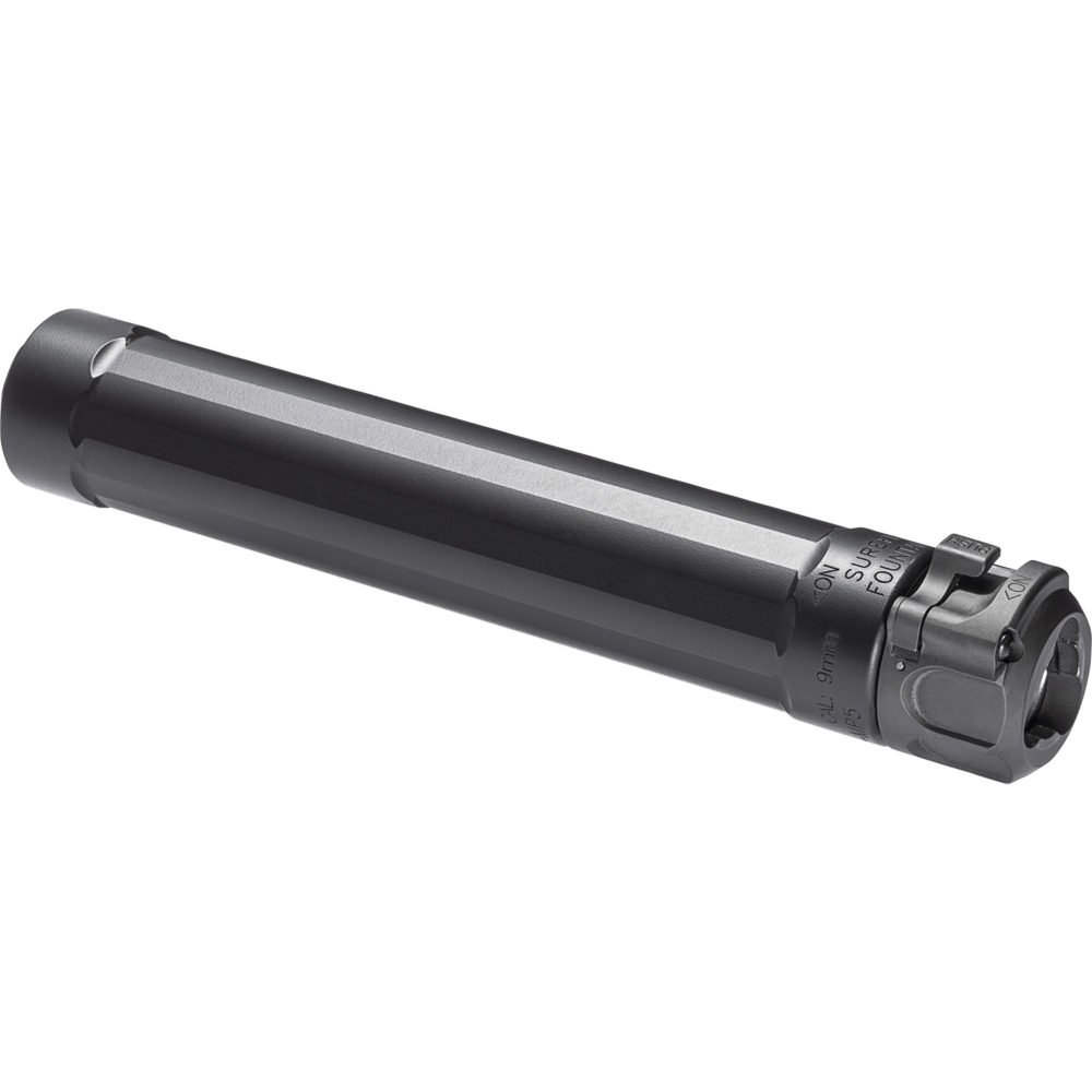 SF Ryder 9-MP5 Gun Suppressor 9mm Silencer with Fast Attach Mounting in Black Color