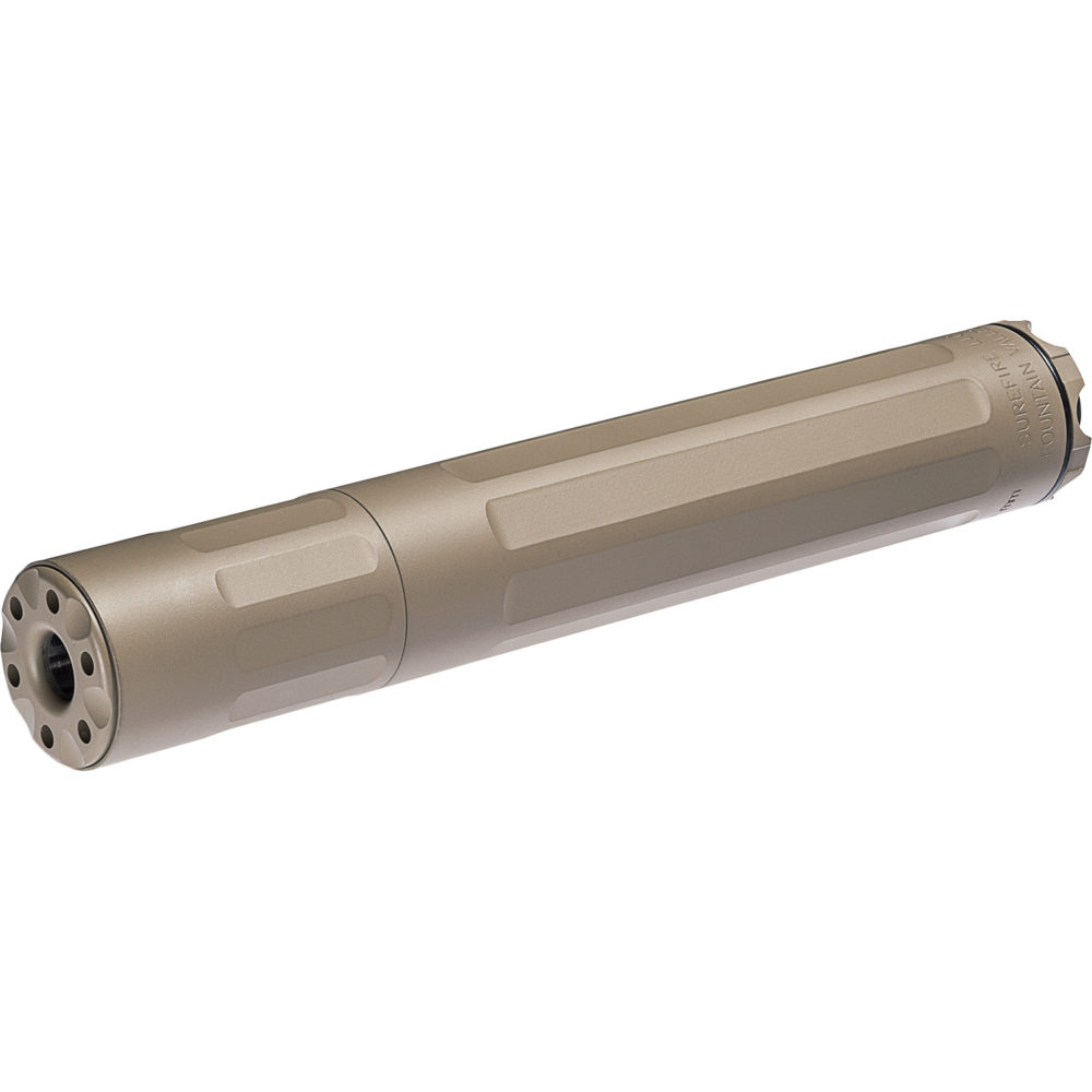 SF Ryder 9M-Ti Gun Suppressor 9mm Silencer with Titanium Alloy Construction in Dark Earth Color