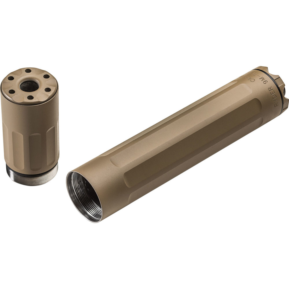 SF Ryder 9M-Ti Gun Suppressor 9mm Silencer with Direct Thread Mounting in Dark Earth Color