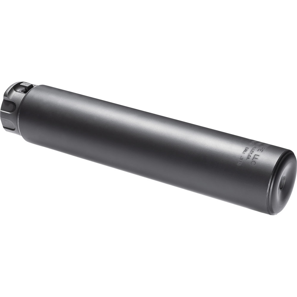 SOCOM338-Ti Suppressor Gun Silencer Designed and Manufactured in the USA in Black Color