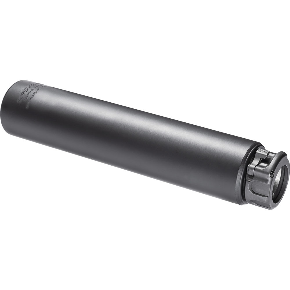 SOCOM338-Ti Suppressor Gun Silencer with Fast Attach Barrel Installation in Black Color