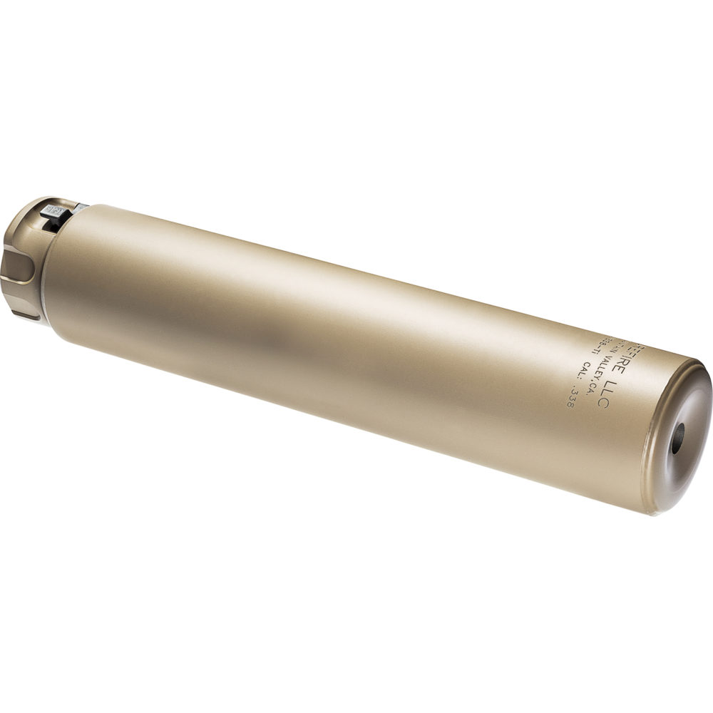 SOCOM338-Ti Suppressor Gun Silencer Designed and Manufactured in the USA in Dark Earth Color