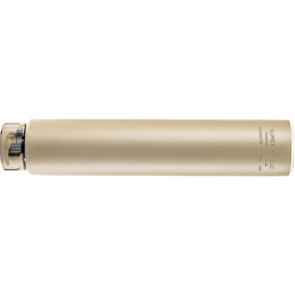 SOCOM338-Ti Suppressor Gun Silencer with Titanium Construction in Dark Earth Color