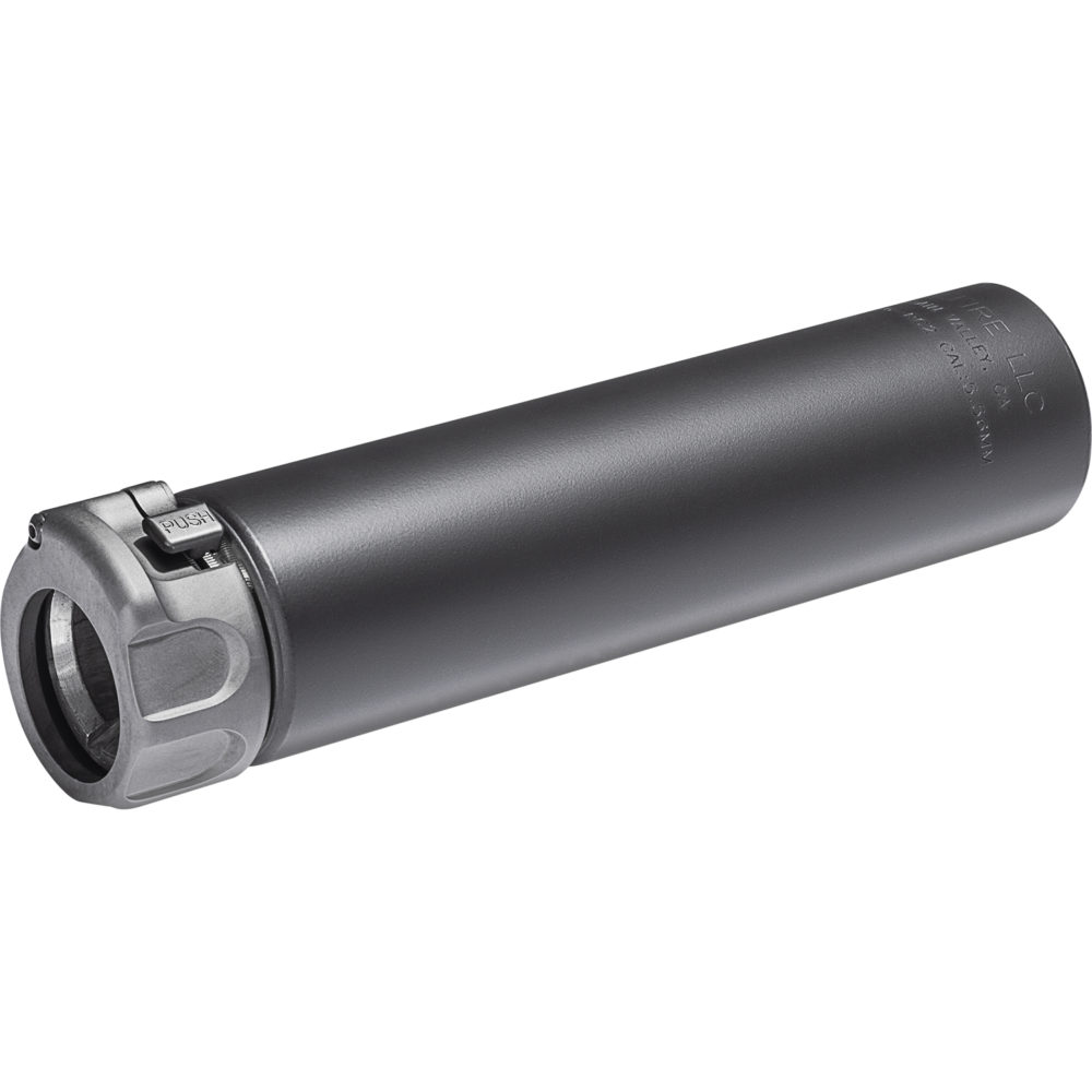 SOCOM556-RC2 Gun Suppressor AR 15 Silencer with Fast Attach Barrel Installation in Black color