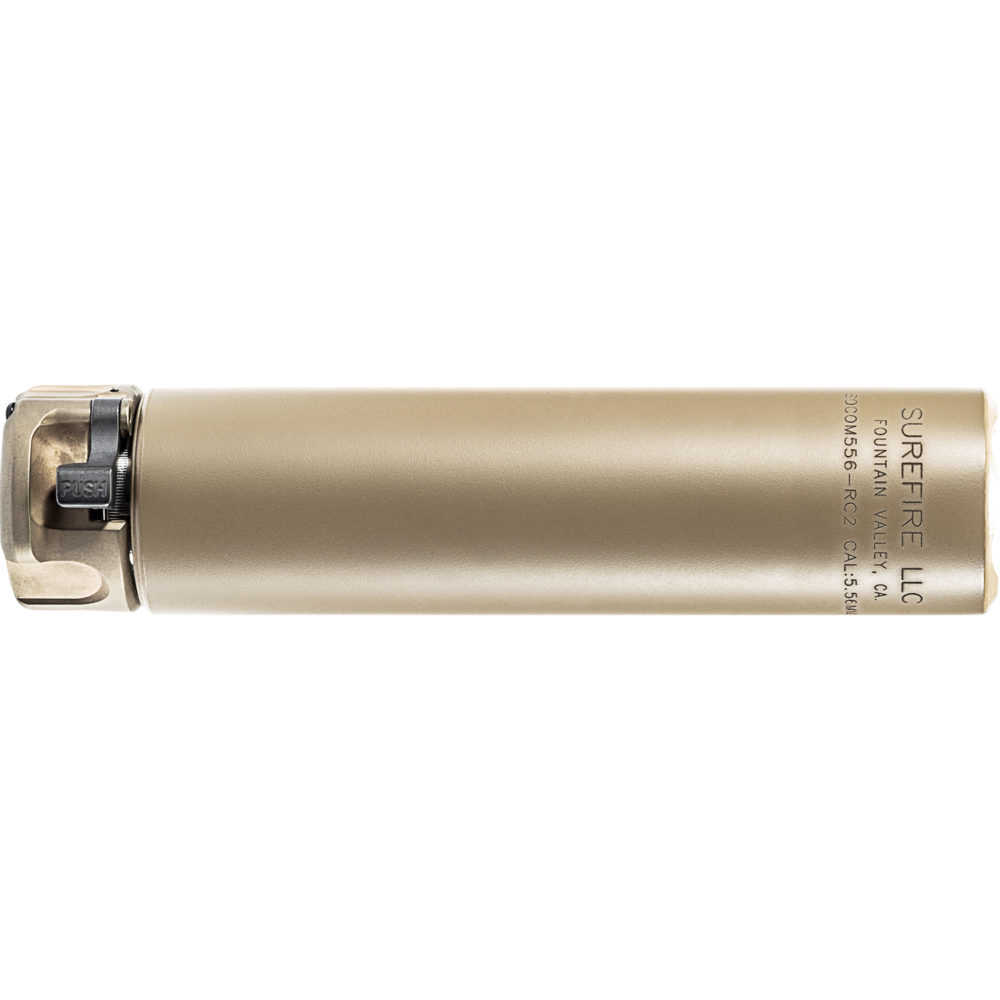 SOCOM556-RC2 Suppressor AR 15 Silencer with High Temperature Alloy in Dark Earth color