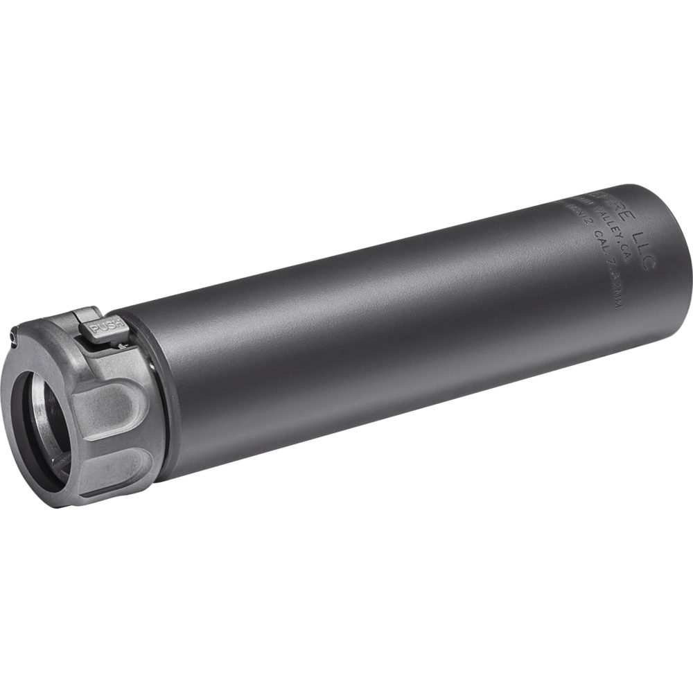 SOCOM762-MINI2 Suppressor Gun Silencer with Fast Attach Barrel Installation in Black