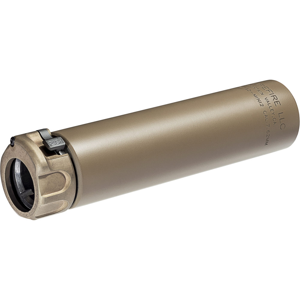 SOCOM762 MINI2 Suppressor Gun Silencer for 7.62mm Rifles in Dark Earth