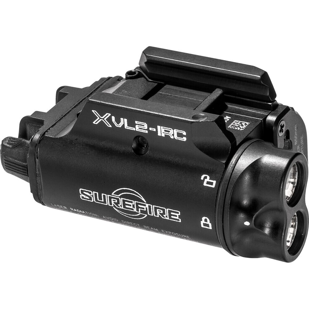 SureFire XVL2-IRC Gun Light for Pistols and Carbines with LED output and infrared capabilities and laser integration