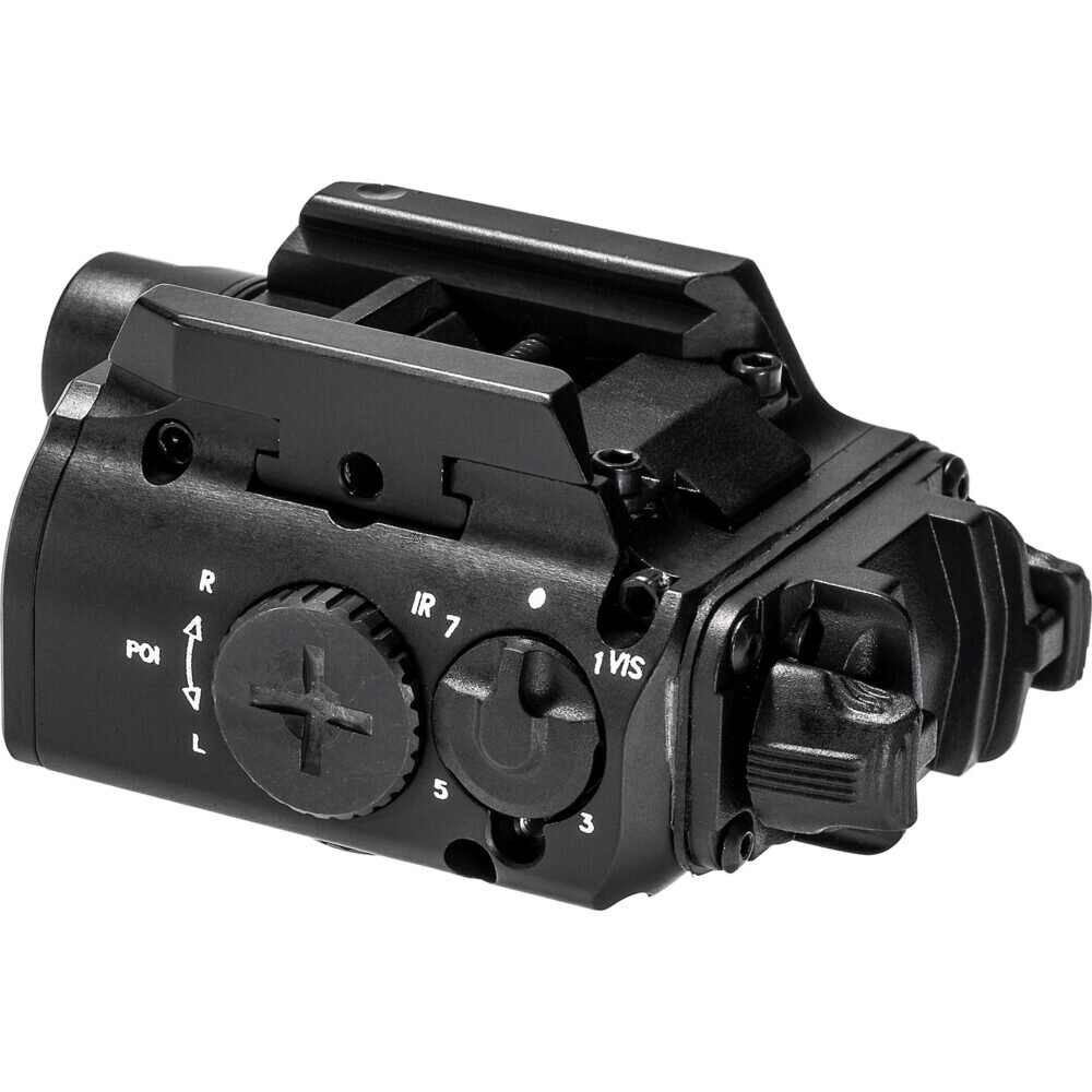SureFire XVL2-IRC Rear Angle View for Pistol Light with Dual Lasers (Green and Infrared) for easy targeting