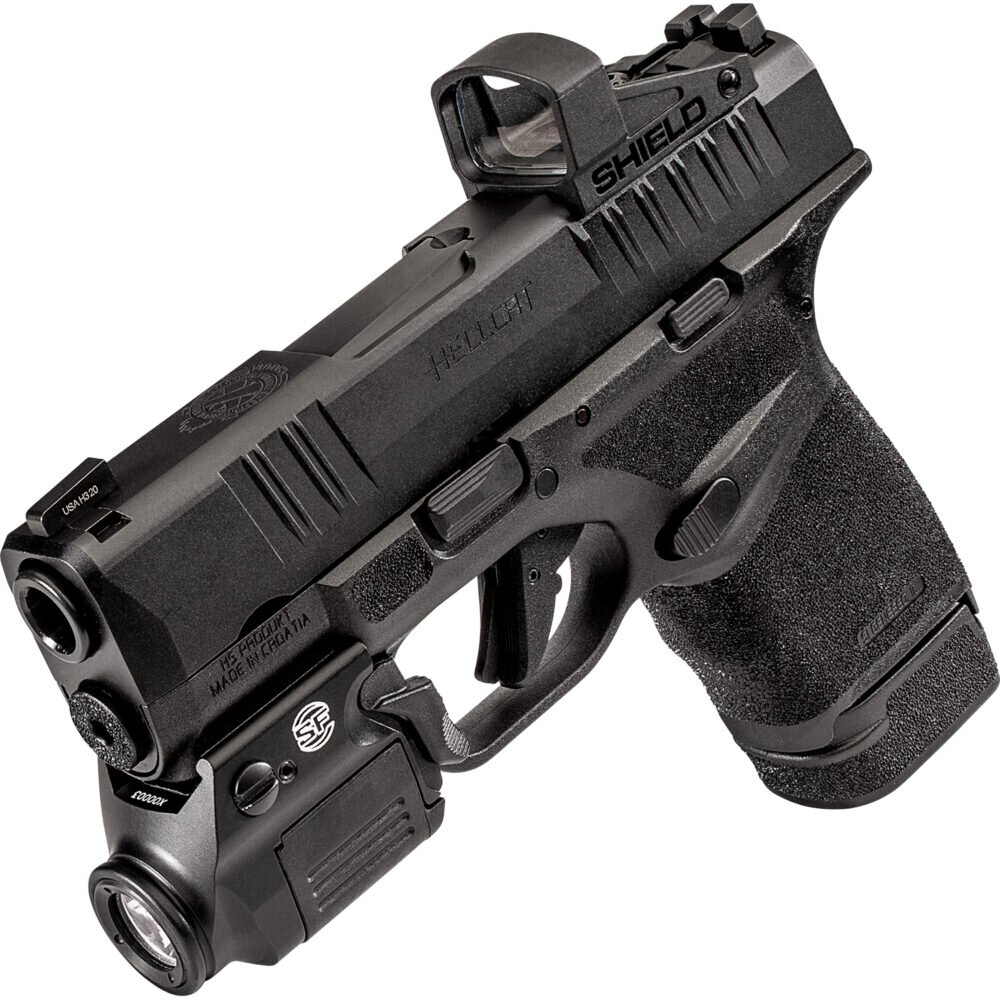 XSC Weapon Light for Hellcat Handgun in use