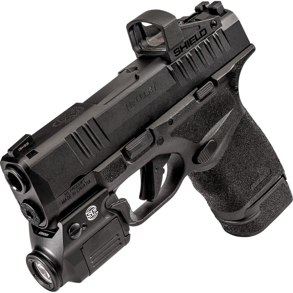 XSC Weapon Light for Hellcat Handgun in use