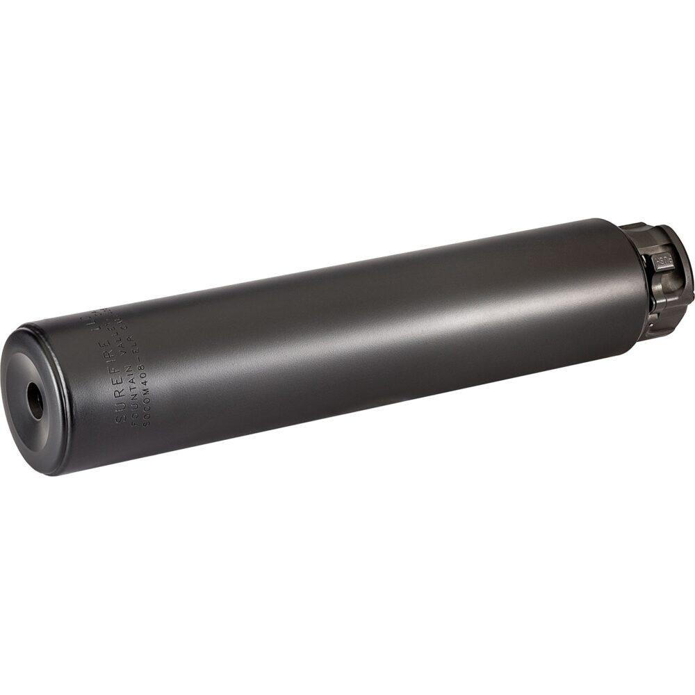 SOCOM408-ELR Titanium Series Fast Attach Sound Suppressor (Silencer) for sniper rifles in Black color